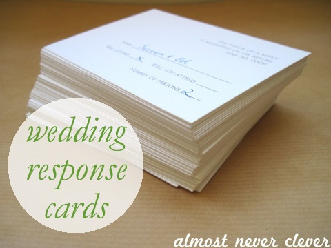 Earth Day - Reuse Wedding Response Cards - Homemade Notecards