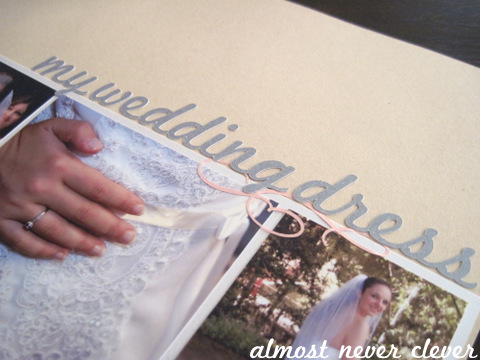 Wedding Dress Scrapbook Page