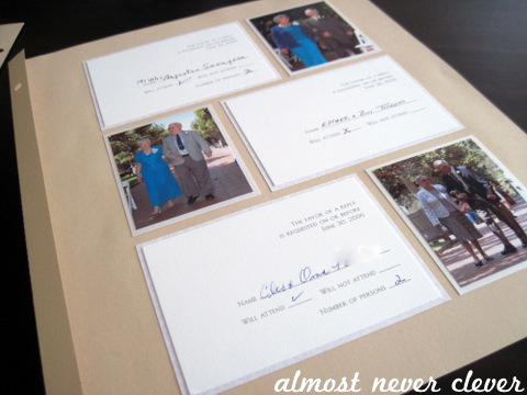 Wedding Scrapbook Invitation Layouts