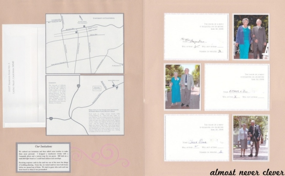 Wedding Invitation Scrapbook Layout