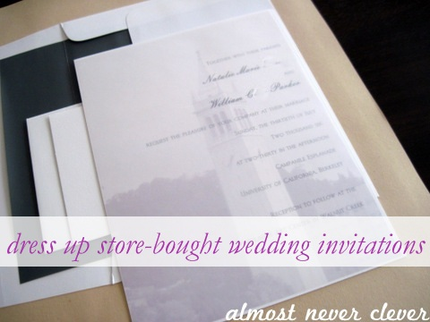 Dress up store-bought wedding invitations