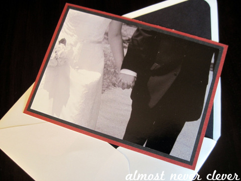Wedding card using wedding pictures
