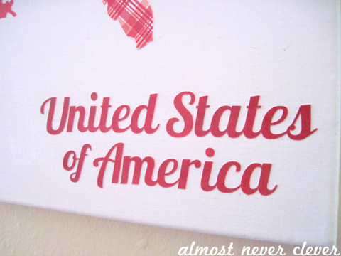 Patterned Paper US Map