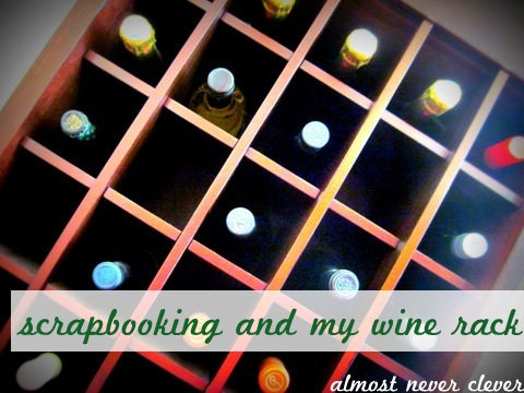 wine rack and paper crafts