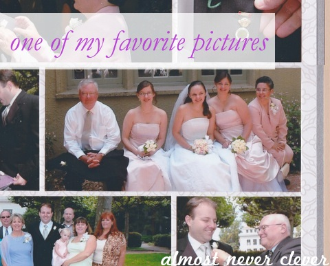 Wedding scrapbook family layout