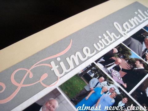 Wedding scrapbook family layout