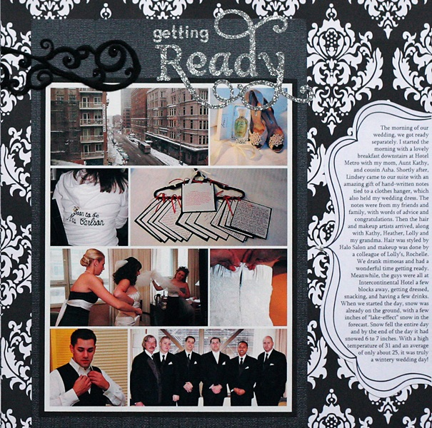 Scrapbook Layout: Wedding Scrapbook Time with Family | Almost Never ...
