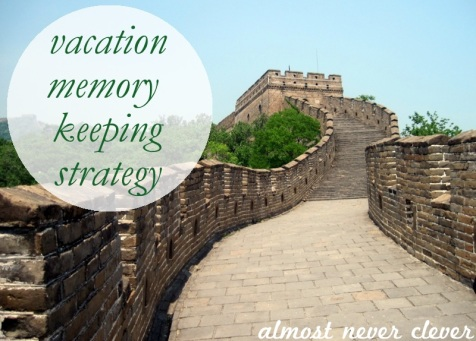 Vacation Memory Keeping Strategy