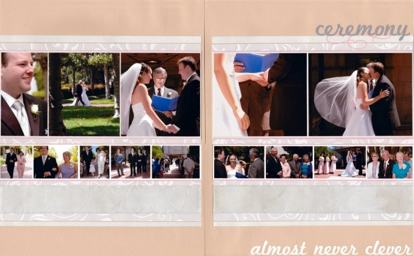 Wedding Ceremony Scrapbook Pages