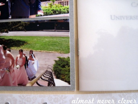 Wedding Scrapbook Pre-Ceremony Layout