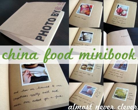 China Food Travel Minibook