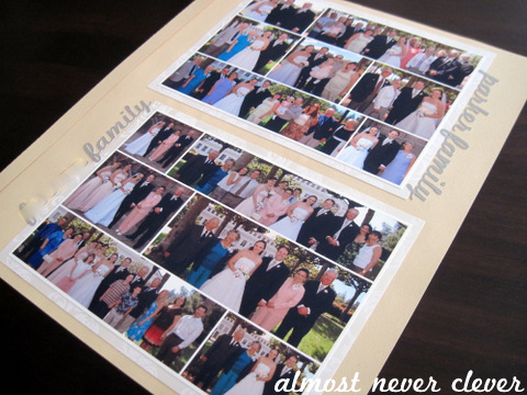 Wedding Scrapbook Family Photos Layout