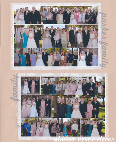 Wedding Scrapbook Family Photos Layout