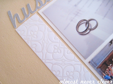 Wedding Scrapbook Layout - Husband & Wife
