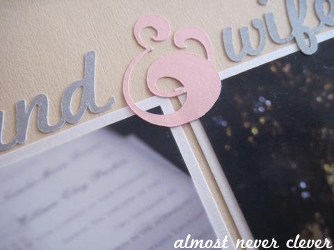 Wedding Scrapbook Layout - Husband & Wife