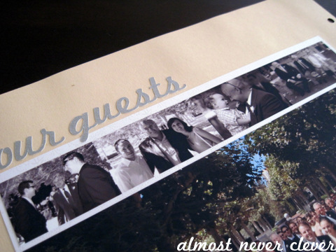 Our Guests Wedding Scrapbook Layout
