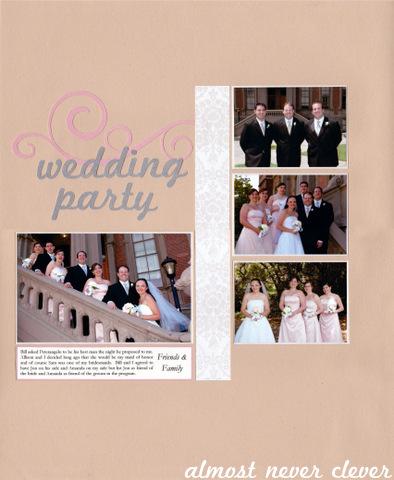 Wedding Party Wedding Scrapbook Layout