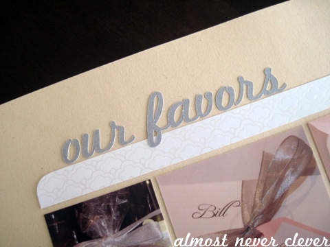 Wedding Scrapbook Favors Layout