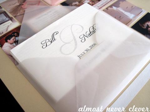 Wedding Scrapbook Favors Layout