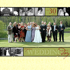Wedding Scrapbook Layout by Katie Pertiet