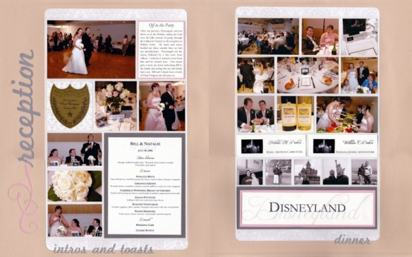 Wedding Reception Scrapbook Layout