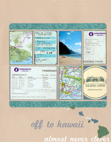 Hawaii Honeymoon Scrapbook Layout 6