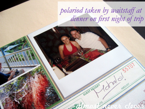 Honeymoon Volcano Village Scrapbook Layout 4
