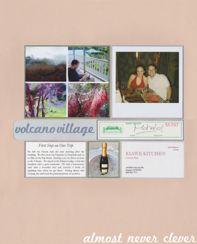 Honeymoon Volcano Village Scrapbook Layout 5