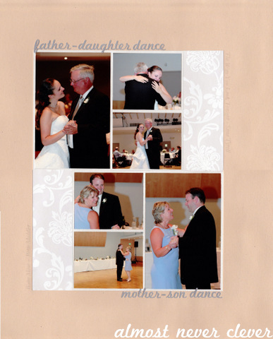 Mother Son Dance Scrapbook Almost Never Clever