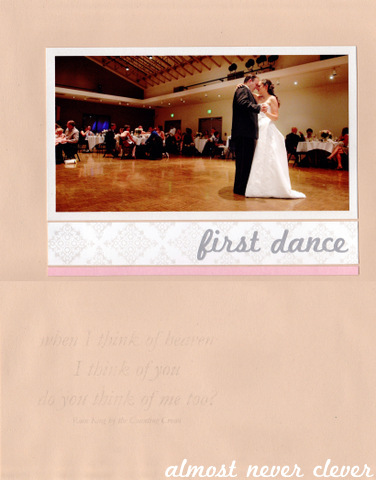 Scrapbook Layout Wedding Scrapbook First Dance Layout With Faded