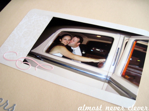 Wedding Scrapbook Getaway Layout