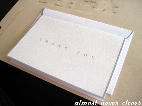 Wedding Scrapbook Guest List and Thank You Note