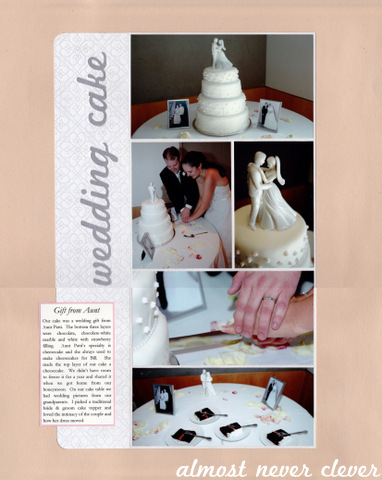 Scrapbook Layout: Wedding Scrapbook Wedding Cake Layout | Almost ...