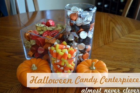 Easy Halloween Candy Centerpiece