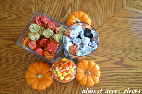 Easy halloween candy centerpiece by almost never clever 2