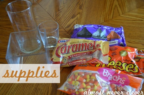 Easy halloween candy centerpiece by almost never clever 3