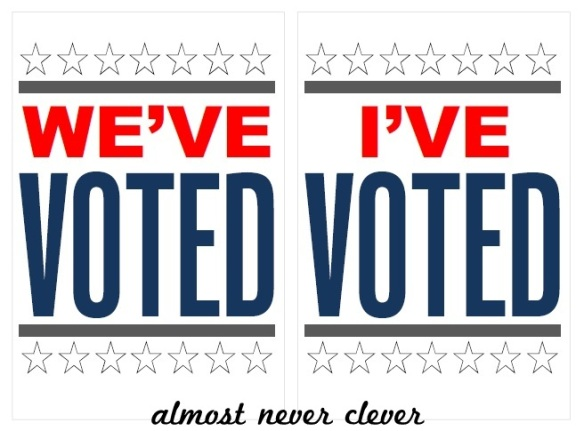 Free Printable I've Voted Sign