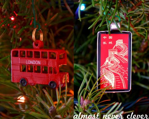 2012 Travel Christmas Ornaments