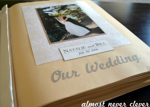 Finished Wedding scrapbook