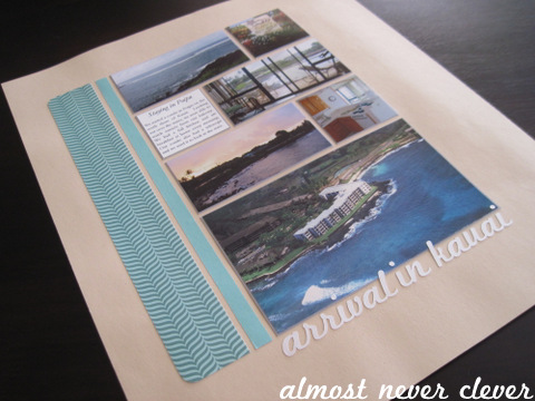 Kauai Honeymoon Layout by Almost Never Clever 1
