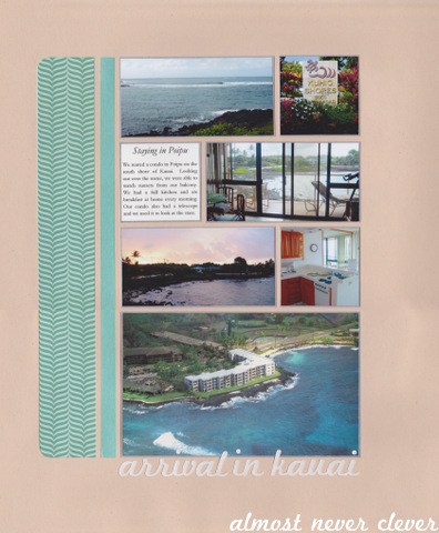 Kauai Honeymoon Layout by Almost Never Clever 5