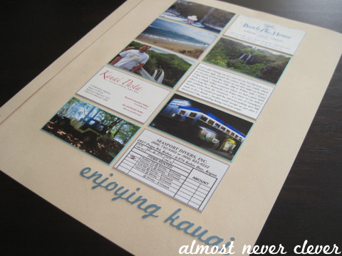 Kauai Honeymoon Scrapbook Layout by Almost Never Clever