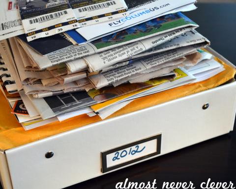 Scrapbook Keepsake Box by Natalie Parker