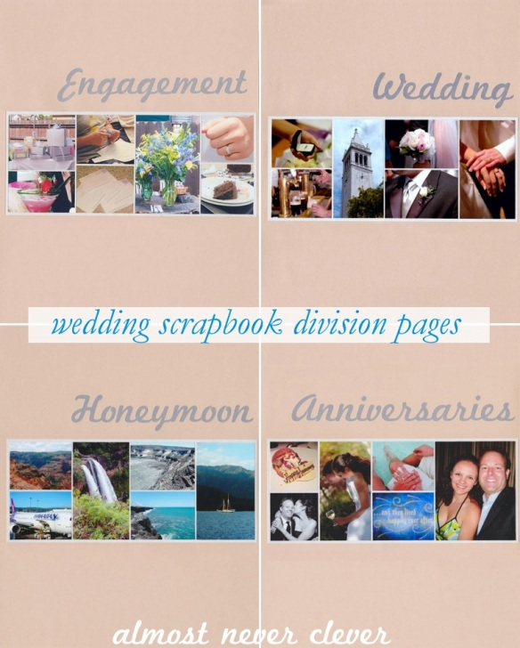 Wedding Scrapbook Division Pages by Almost Never Clever