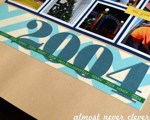2004 Scrapbook Title Page by Natalie Parker
