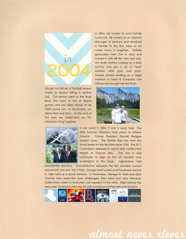 2004 Year in Review Scrapbook Page by Natalie Parker