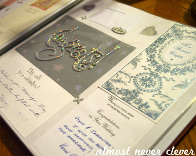 Wedding Card Album by Natalie Parker