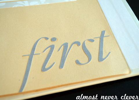 Wedding Scrapbook Anniversary Page Headline