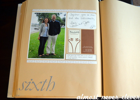 Wedding Scrapbook Anniversary Page