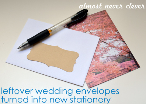 Turning Leftover Wedding Supplies into New Stationery